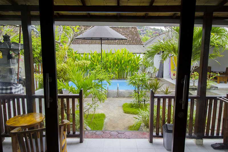 view front of family room, pantai bungalow view